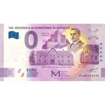 0 Euro 100 Rocznica Powstania Śląskiego