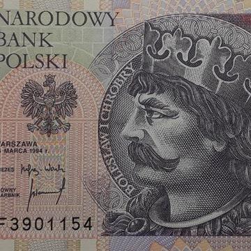 Banknot 20zł 1994 r. ser YF UNC /Ser. zastępcza/
