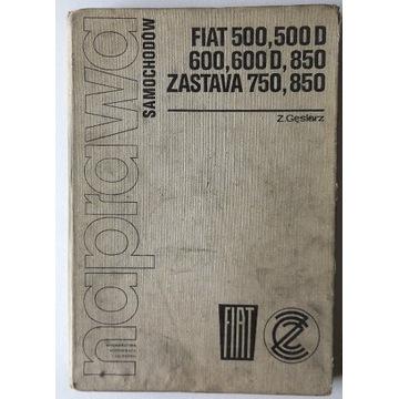 Naprawa samochodów FIAT 500, 600 , 850 ZASTAWA 750