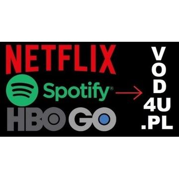 NET--FLIX 30 TV|SPOTIFY|NORD VPN|HBO GO|GWARANCJA