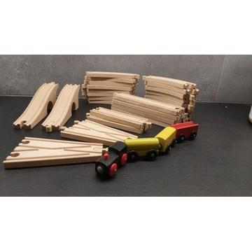 Tory drewniane + pociąg