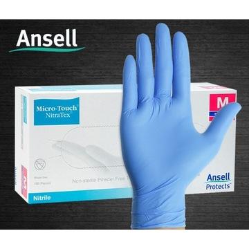 Rękawiczki nitrylowe diagnostyczne 100 szt