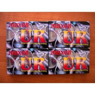Zestaw 4 x Kaseta magnetofonowa Maxell UR 90