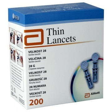 Lancety Thin lancets 200szt
