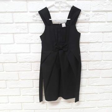 Sukienka czarna galowa 134 szkolna