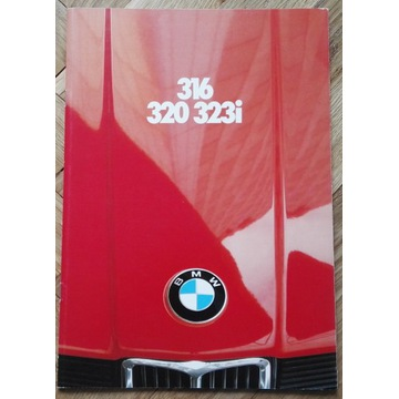 BMW e21 316 320 323i oryginalny prospekt katalog