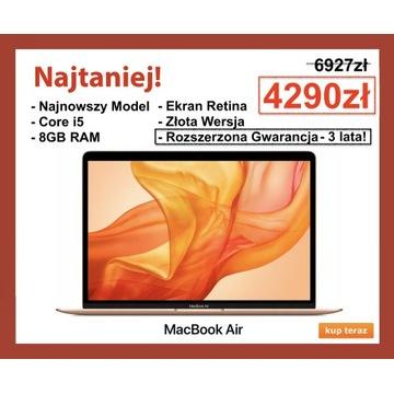 NOWY MACBOOK AIR RETINA PRO 13 GOLD 128GB GW3LATA!
