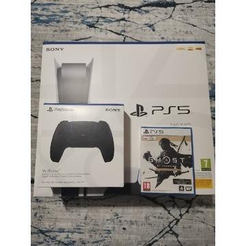 Konsola Sony PlayStation 5, dwa pady, gra