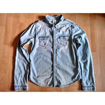 H&M Dziewczęca Koszula dżinsowa z cwiekami 170