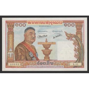 Laos 100 kip 1957 - L.11 - stan bankowy UNC