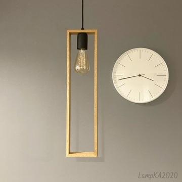 Lampa drewniana RAMKA LONG-wisząca