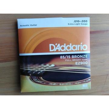 Struny do gitary akustycznej Daddario EZ900, 10-47
