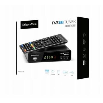 Tuner / dekoder DVB-T2 marki Kruger&Matz  KM0550A