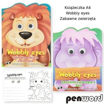Kolorowanka  Malowanka Książeczka Wobbly Eyes a4