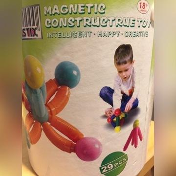 klocki magnetyczne dla malucha magnastix