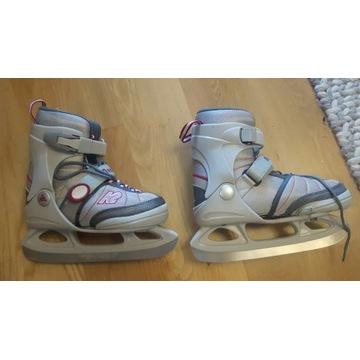 łyżwy dziewczęce K2 Anna Ice rozmiar 32-37