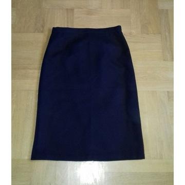 L/XL wełniana elegancka spódnica wizytowa pas 90cm