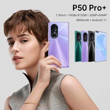 Smartfon P50 Pro+ Android 11 5G 16GB/512GB DualSim