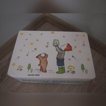 Kuferek wspomnień pudełko Chrzest Roczek Komunia