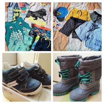 98/104cm zestaw chłopca + buty + gratisy