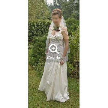 Suknia ślubna  ecri, 38-40