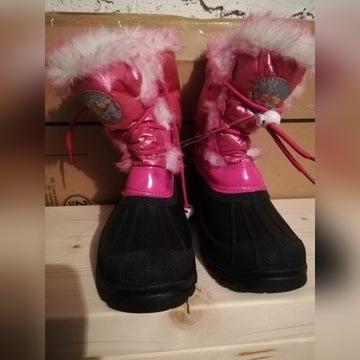 Zimowe dziewczęce buty ocieplane z futerkiem r.31