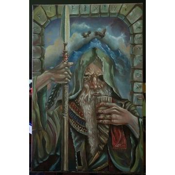 """obraz olejny """"ODYN"""" mitologia nordycka"""