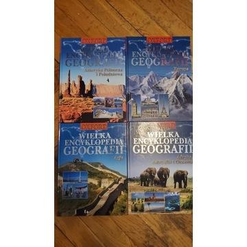 4 książki encyklopedia geografii w zestawie