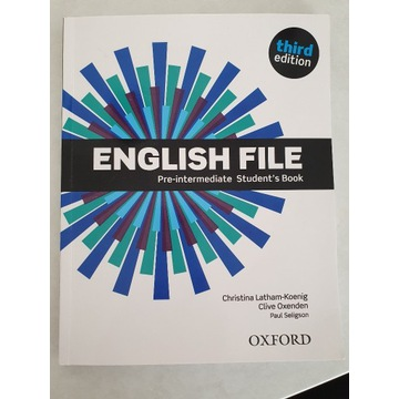 English File Pre-intermediate third edition podręc