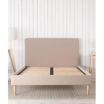 Tapicerowane łóżko proste 140x200 ze stelażem