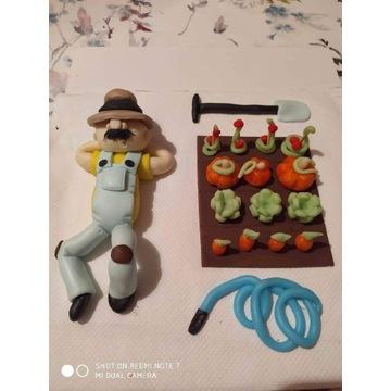 Dziadek z masy cukrowej Figurka na tort
