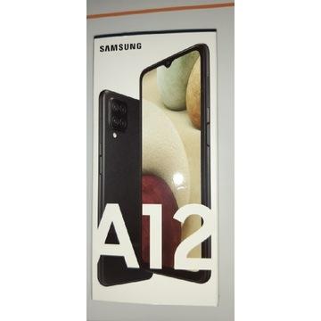 Samsung A12 Czarny Nowy Folia