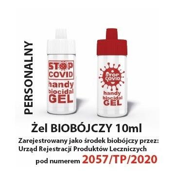 Żel antybakteryjny, dezynfekujący, biobójczy 10ml