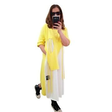 Acqua limone sukienka bawełniana Memories yellow