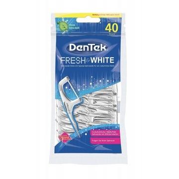 Dentek wykałaczki z nitką wybielającą 40 szt