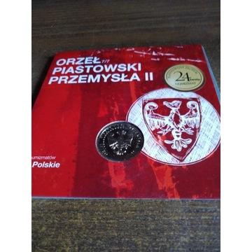 Orzeł piastowski Przemysława II numizmat