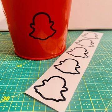 Naklejki Duszek Snapchat 5 szt.
