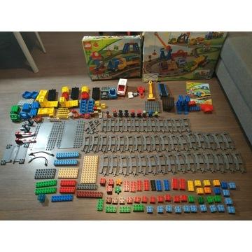 Klocki LEGO Duplo tory, pociągi,figurki 2 zestawy