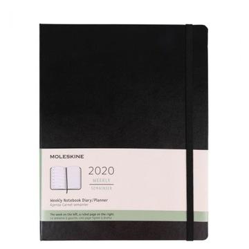 Moleskine 2020 Weekly Planer XL black