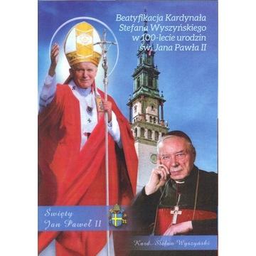 Stefan Wyszyński - Jan Paweł II - Pocztówka 2020r.