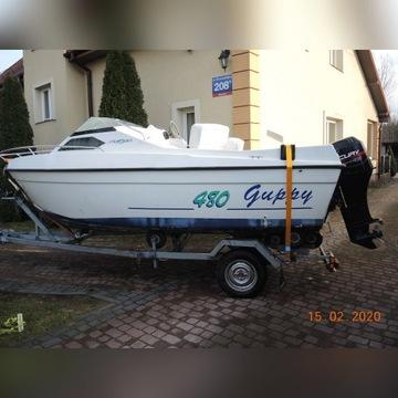 Łódz motorowa Jouandudet 480 Mercury 50 +dach+przy