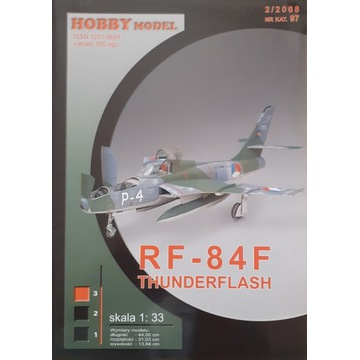 Rf 84 Hobby model. Druk offset.