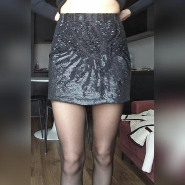 Zara piękna spódnica z cekinami XS S