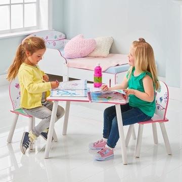 Dziecięcy stolik i 2 krzesła. Powystawowy