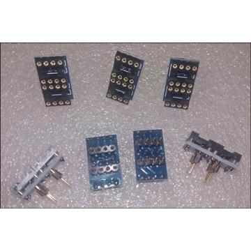 5 szt -- adapter 2xsingle DIP8 na 1xdual DIP8 opa