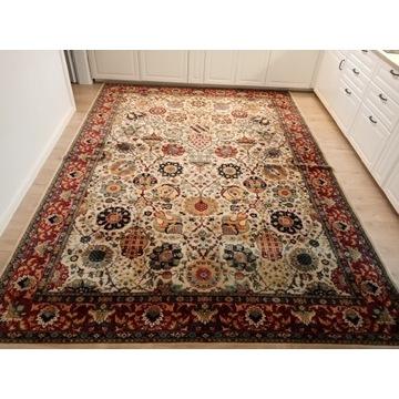 Piękny wełniany floralny dywan 250x350cm