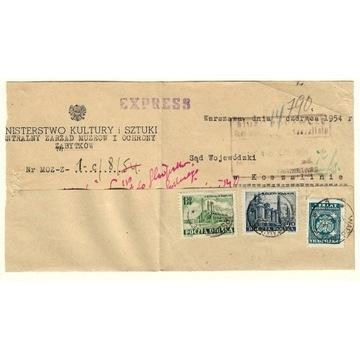 List Min. Kultury z 1954e do SO Koszalin