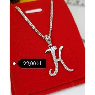 Naszyjnik z literka K