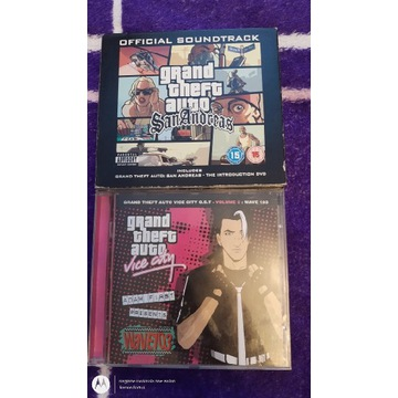 Soundtrack gier PS2 GTA VICE CITY I San Andreas