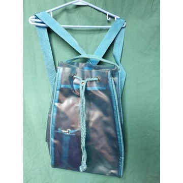 plecak wodoodporny duży niebieski turkus